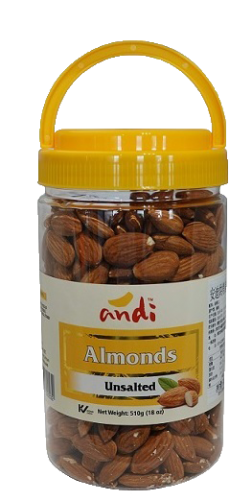 Almonds Unsalted 510g